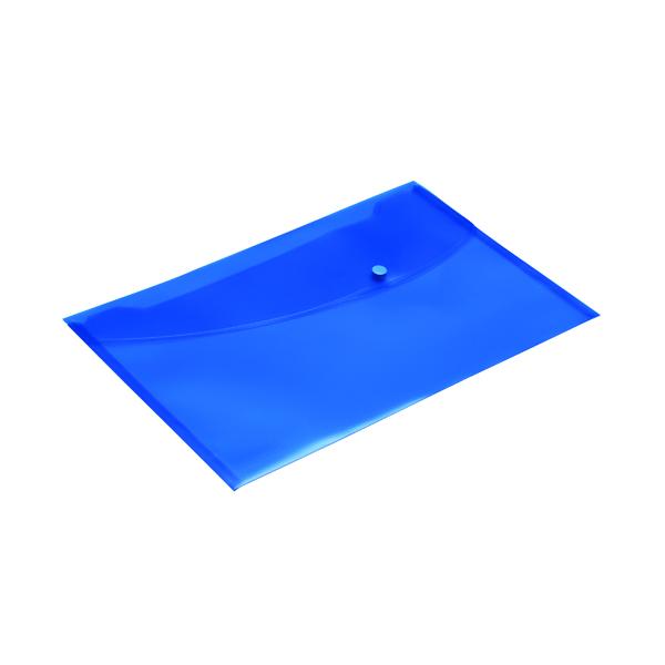 Rapesco Popper Wallet Foolscap Blue (Pack of 5) 0693