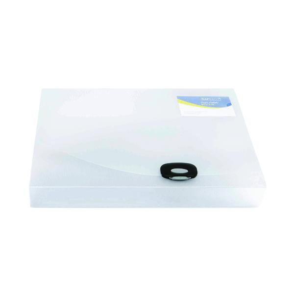 Rapesco Rigid Wallet Box File 40mm Capacity 400 Sheets A4 Clear 0711