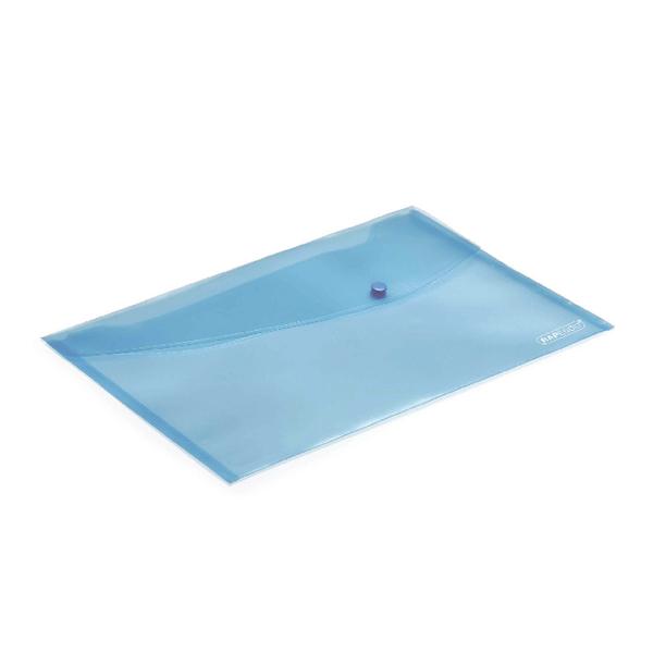 Rapesco Popper Wallet Foolscap Pastel Blue (Pack of 5) 0691