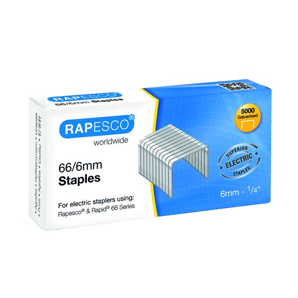 Rapesco 66/6mm Staples Chisel Point (Pack of 5000) S66600Z3