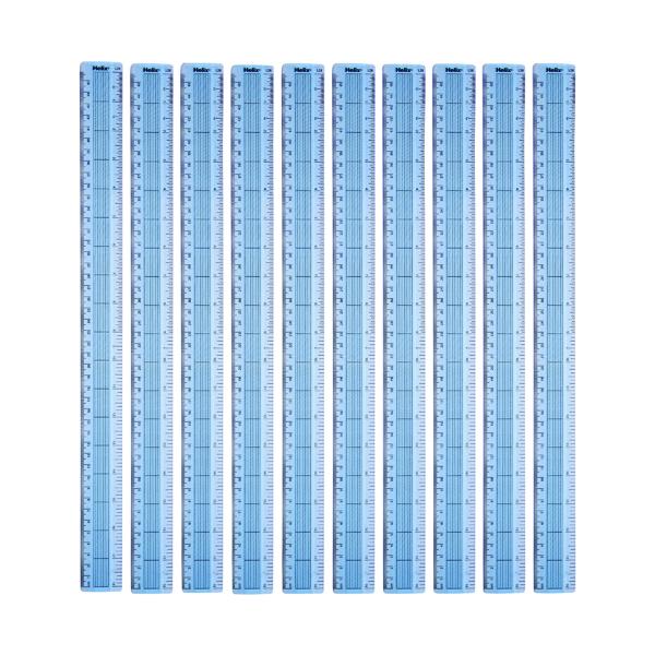 Helix Shatter Resistant Ruler Gridded 45cm Blue (Pack of 10) L28040