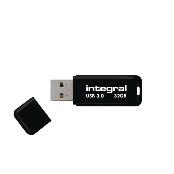 Integral Black Noir USB 3.0 32Gb Flash Drive INFD32GBNOIR3.0