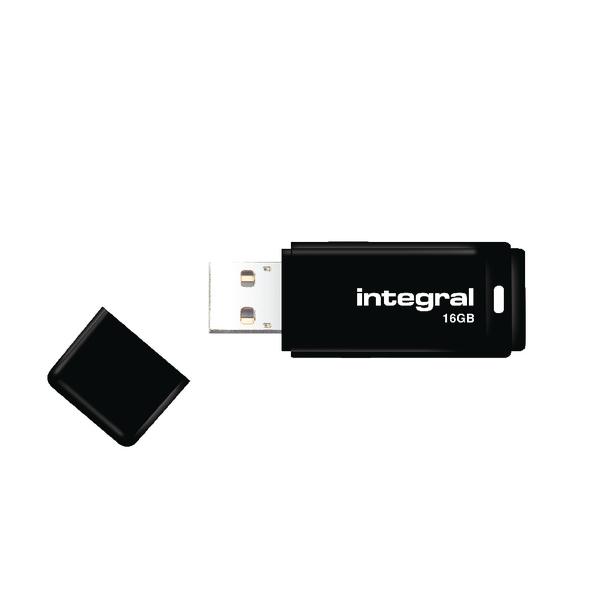 Integral Black USB 2.0 16Gb Flash Drive INFD16GBBLK
