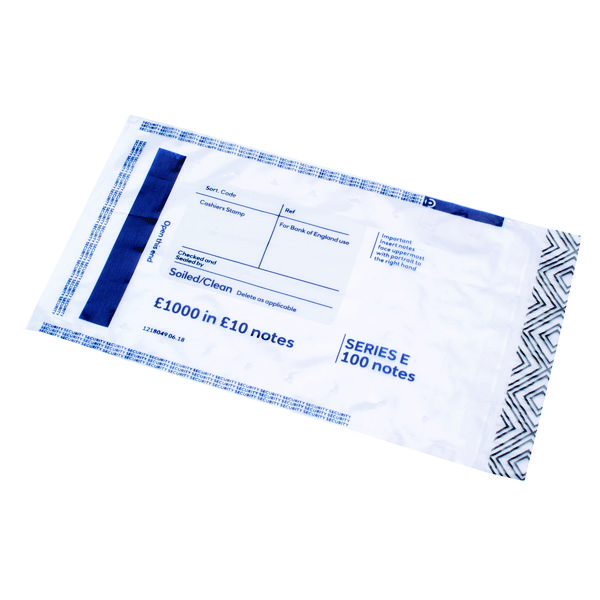 Initial Cash Note Bag 1000 in 10 Notes (Pack of 500) BEVOMIS0004