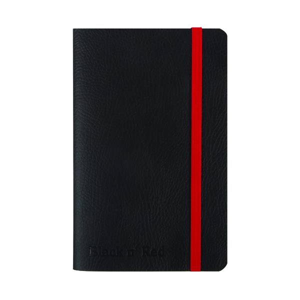 Black n' Red Soft Cover Notebook A6 Black 400051205