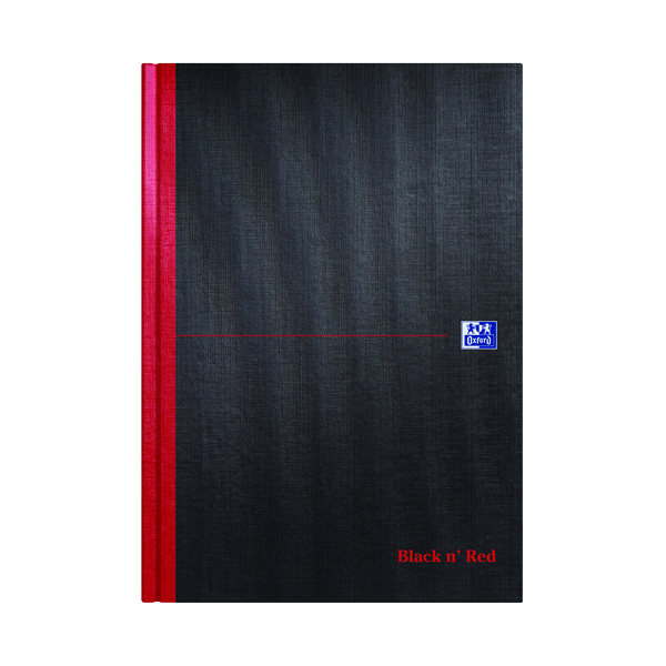 Black n' Red Smart Ruled Casebound Hardback Notebook A4 100080428