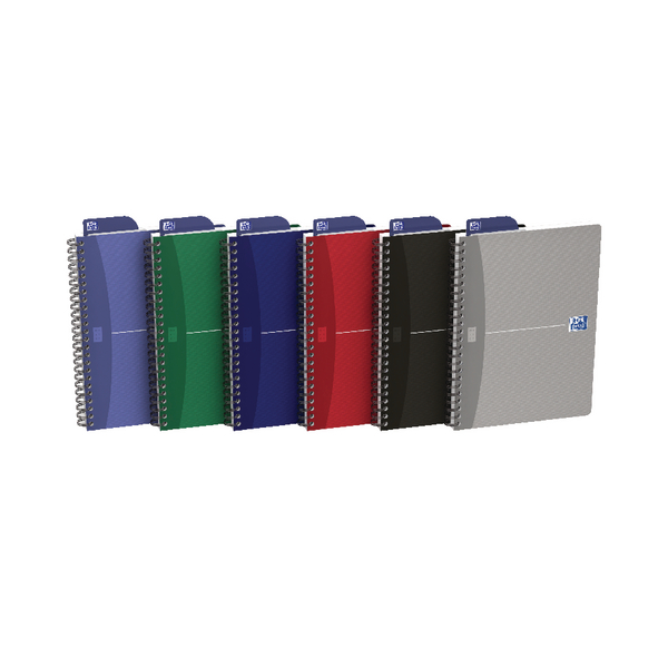 Oxford Card Cover Wirebound Notebook A5 Assorted (Pack of 5) 100103741