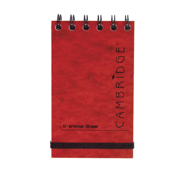 Cambridge Elasticated Red Notebook 76 x 127mm (Pack of 10) 100080421
