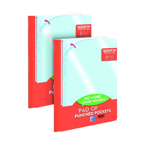 Oxford Punch Pocket Pad A4 (Pack of 60) 2 For 1 JD811289