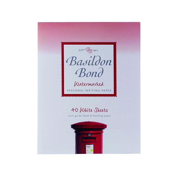 Basildon Bond Writing Pad 178 x 229mm White (Pack of 10) 100103860
