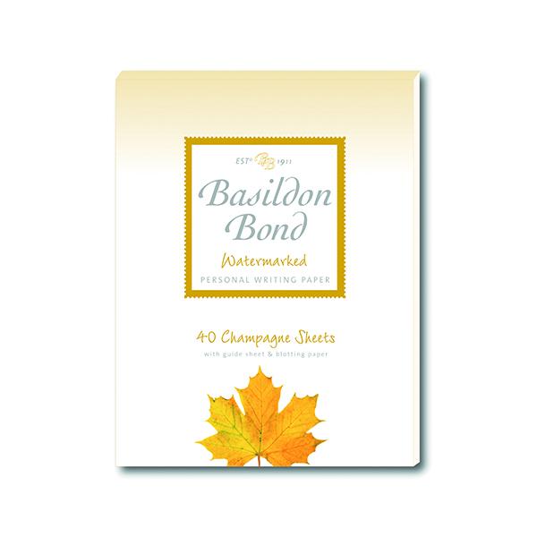 Basildon Bond Writing Pad 137 x 178mm Champagne (Pack of 10) 100101040