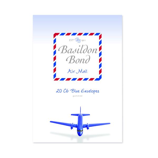 Basildon Bond Blue Airmail Envelope 114x162mm (Pack of 200) 100080079