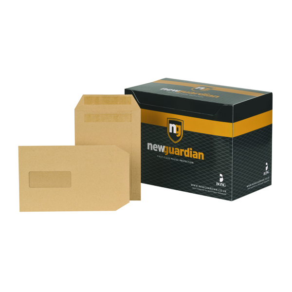 New Guardian C5 Envelope Window Self Seal Manilla (Pack of 250) A23013
