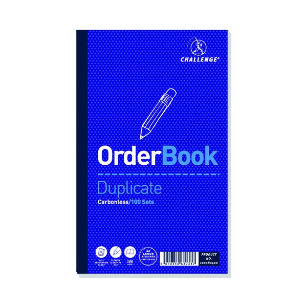 Challenge Carbonless Duplicate Order Book 100 Sets 210x130mm (Pack of 5) 100080400