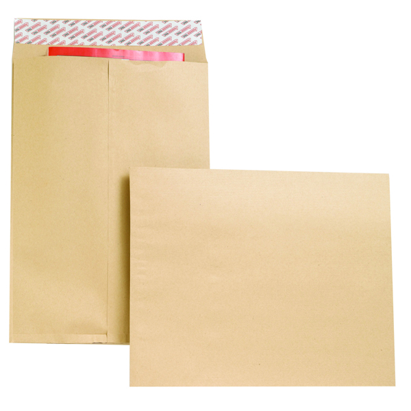 New Guardian Envelope Gusset 406x305x25mm Manilla (Pack of 100) B27326