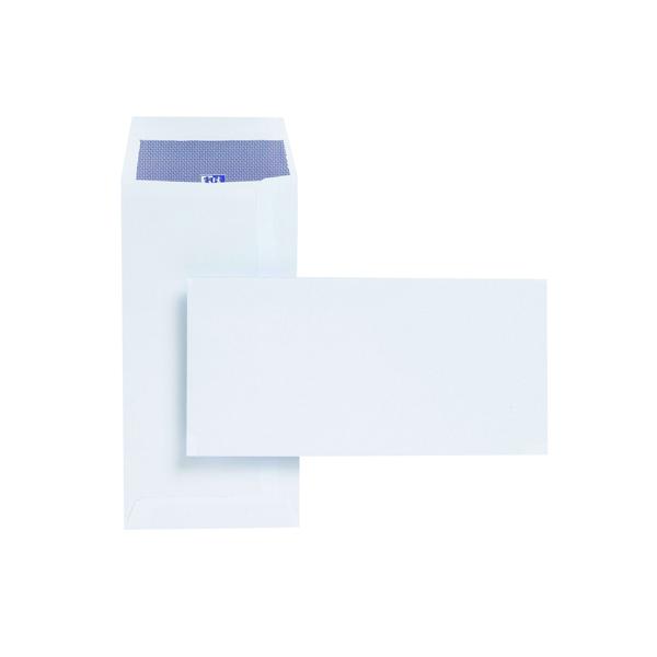 Plus Fabric DL Envelopes Pocket Self Seal 110gsm White (Pack of 500) E25770