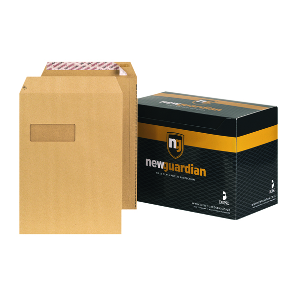 New Guardian C4 Envelope Window Peel/Seal Manilla (Pack of 250) F24203