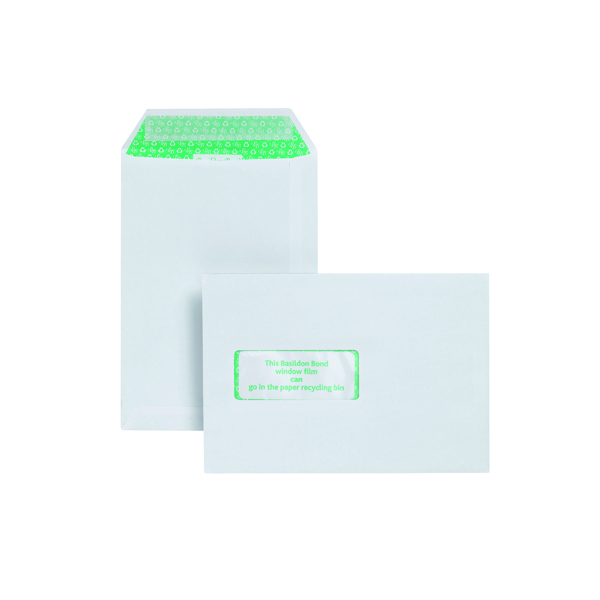 Basildon Bond C5 Pocket Envelope Window White (Pack of 500) J80119