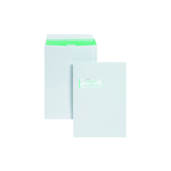 Basildon Bond C4 Pocket Envelope Window White (Pack of 250) K80121
