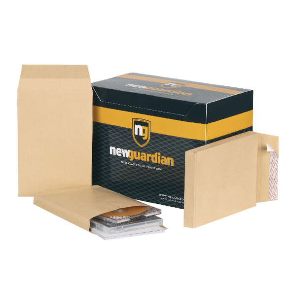 New Guardian Envelope 241x165x25mm P/Seal Manilla (Pack of 100) L27306