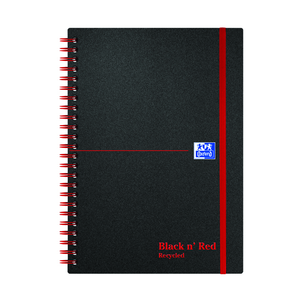 Black n' Red Recycled Wirebound Polypropylene Notebook 140 Pages A5 (Pack of 5) 846350963