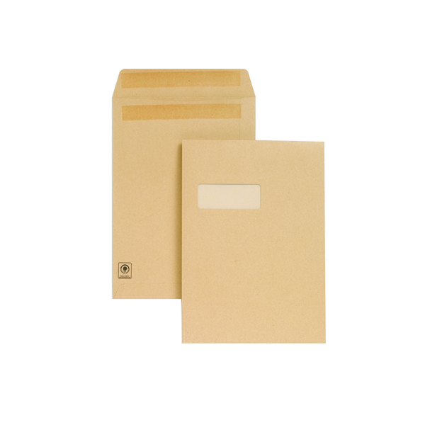 New Guardian C4 Envelope Window Self Seal Manilla (Pack of 250) M27503