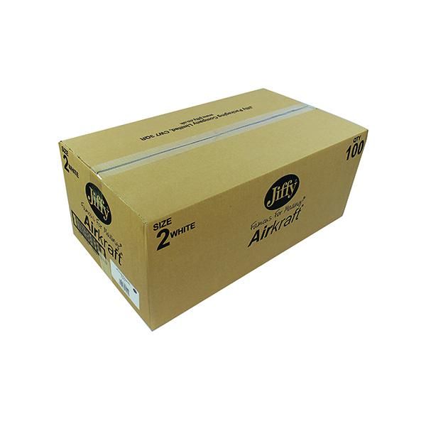 Jiffy AirKraft Bag Size 2 205x245mm White (Pack of 100) JL-2