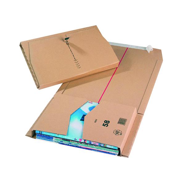 20 x Brown 380x285x80mm Mailing Box (Self-adhesive strip for sealing) 11491