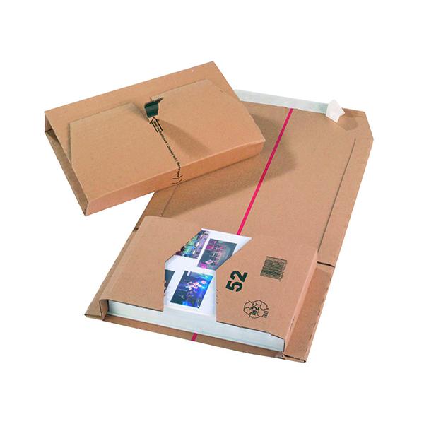 20 x Brown 251x165x60mm Mailing Box (Self-adhesive strip for sealing) 11208