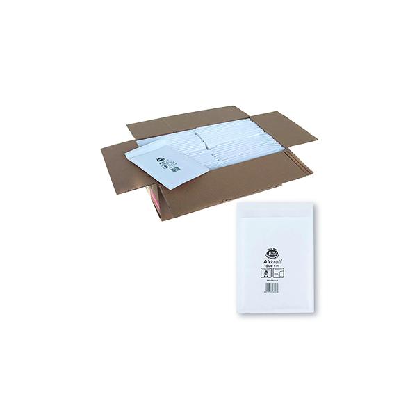 Jiffy Airkraft Bag Size 1 170x245mm White JL-1 (Pack of 10) 04890