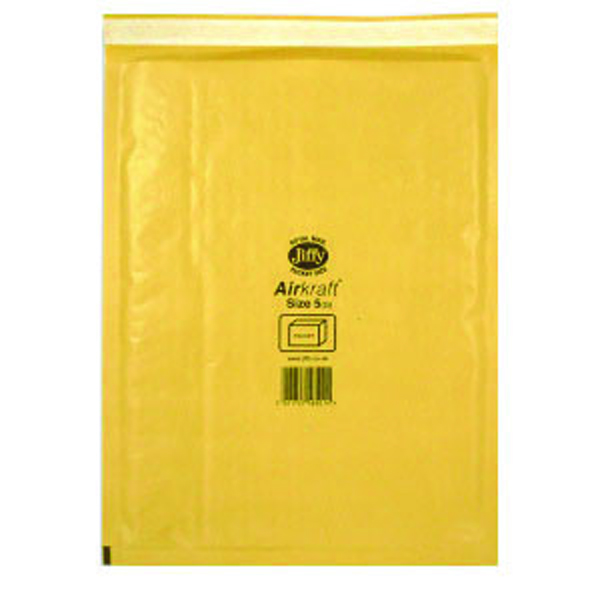 Jiffy AirKraft Bag Size 5 260x345mm Gold GO-5 (Pack of 10) MMUL04605