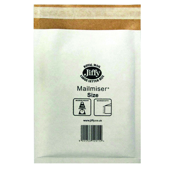 Jiffy Mailmiser Size 1 170x245mm White MM-1 (Pack of 10) JFMM1 2220