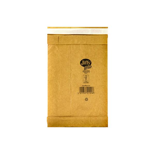 Jiffy Padded Bag Size 1 165x280mm Gold PB-1 (Pack of 100) JPB-1