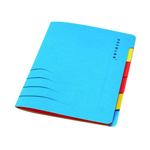 Jalema Secolor Sixtab 6- Part File A4 Blue (Pack of 5) 8331600-10791
