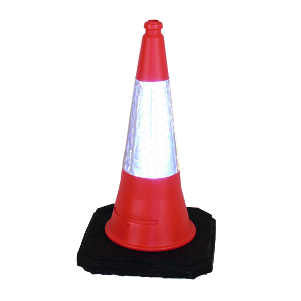 Red Weighted Traffic Cone With Reflective Sleeve 750mm JAA060220654