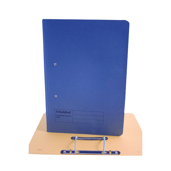 Exacompta Guildhall Transfer File 285gsm Foolscap Blue (Pack of 25) 346-BLUZ
