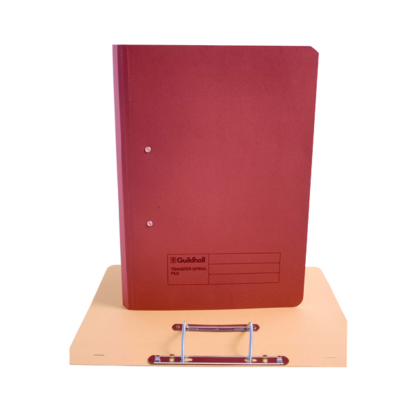 Exacompta Guildhall Transfer File 285gsm Foolscap Red (Pack of 25) 346-REDZ