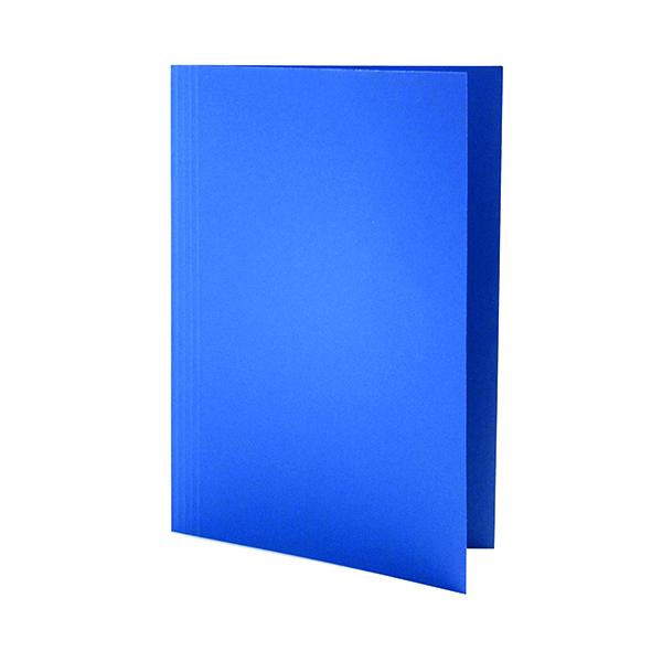 Guildhall Square Cut Folder Mediumweight Foolscap Blue (Pack of 100) FS250-BLUZ