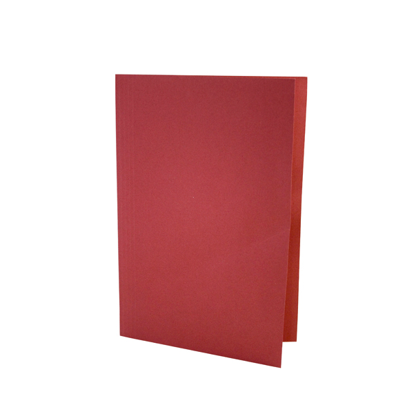 Guildhall Square Cut Folder Mediumweight Foolscap Red (Pack of 100) FS250-REDZ