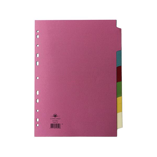 Concord Divider 6-Part A4 160gsm Multicoloured 70699/J6
