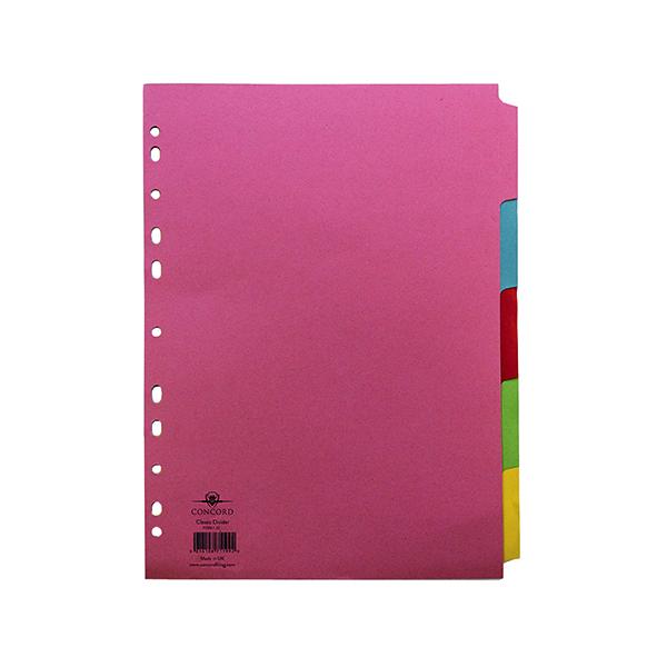 Concord Divider 5-Part A4 160gsm Multicoloured 71199/J11
