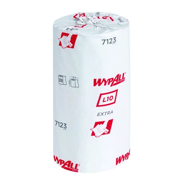 Wypall L10 Wiper Roll 1-Ply Blue (Pack of 12) 7123