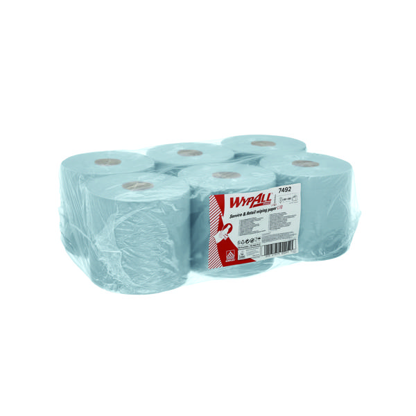 Wypall L10 Roll Control Wiper Blue 400 Sheets (Pack of 6) 7492