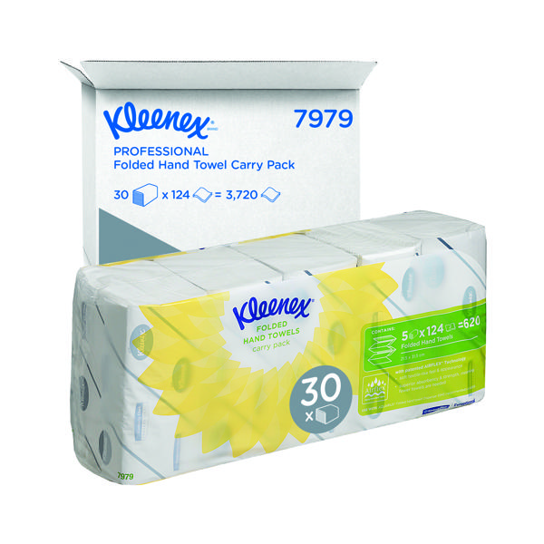 Kleenex 2-Ply Ultra Hand Towel 124 Sheets (Pack of 5) 7979