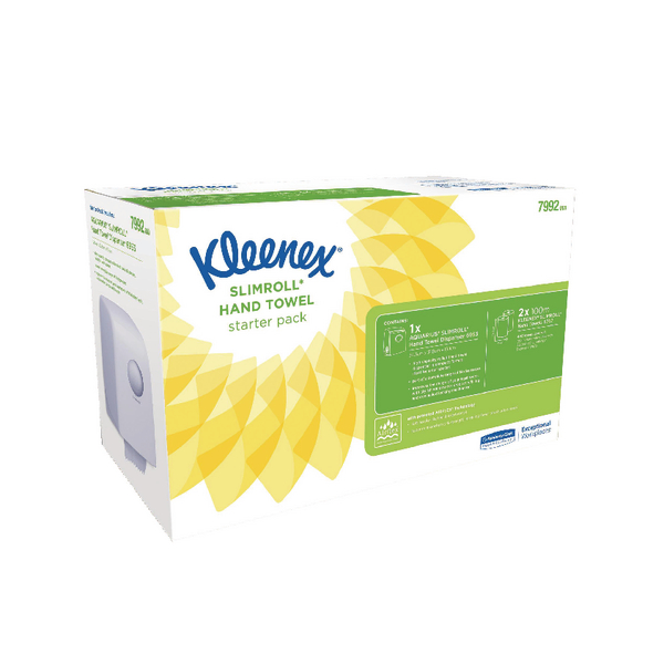 Kleenex Slimroll Starter Pack (Includes dispenser and 2 rolls of hand towels) 7992