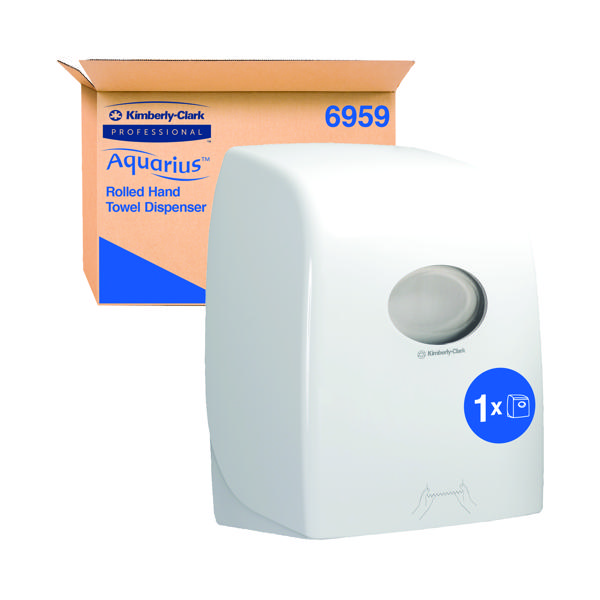 Aquarius Rolled Hand Towel Dispenser White 6959