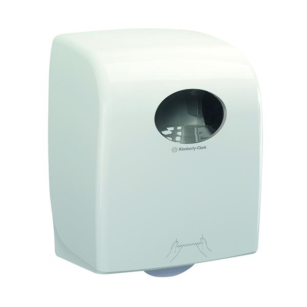 Aquarius Large Roll Rolled Hand Towel Dispenser White 7375