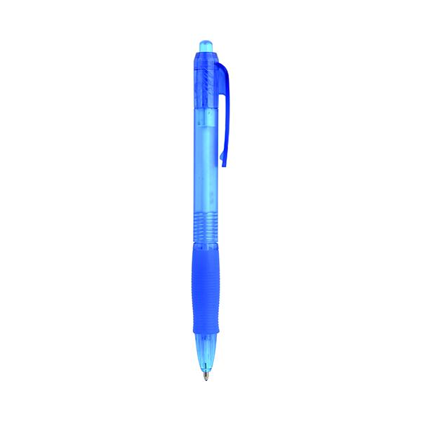 Q-Connect Retractable Ballpoint Pen Medium Blue (Pack of 10) KF00268
