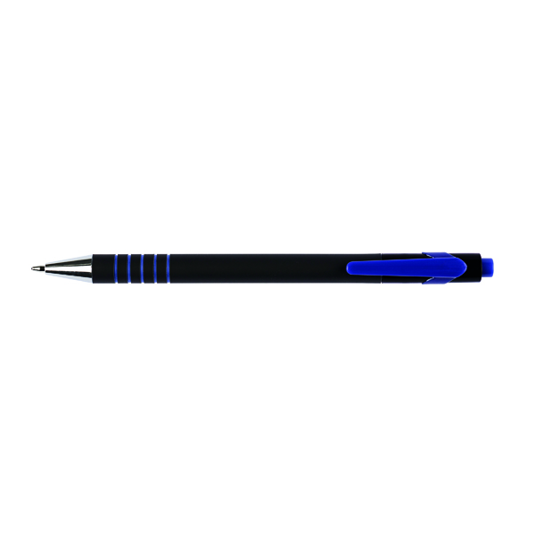 Q-Connect Lamda Ballpoint Pen Medium Blue (Pack of 12) KF00673