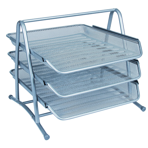 Q-Connect 3 Tier Letter Tray Silver KF00822
